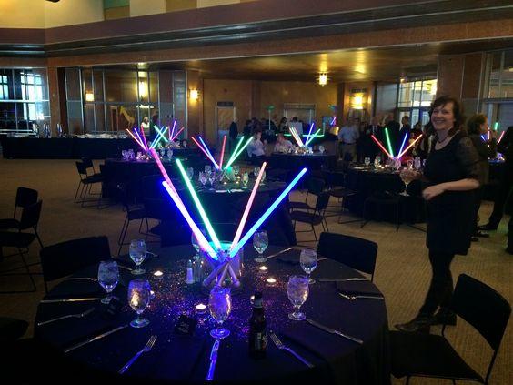 Star Wars Light Saber Table Decorations