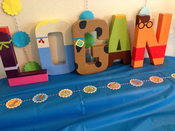 Scooby Doo Birthday Party Banner