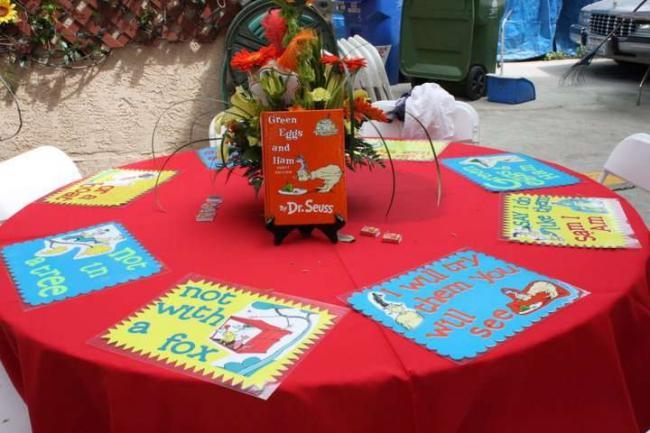 Dr. Seuss Table Decorations