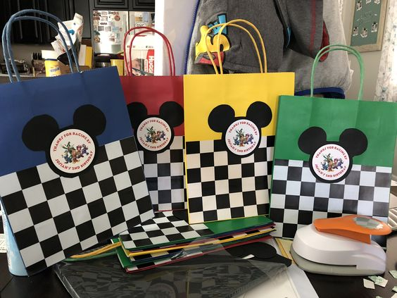 Mickey and the Roadster Racers Goody Bags