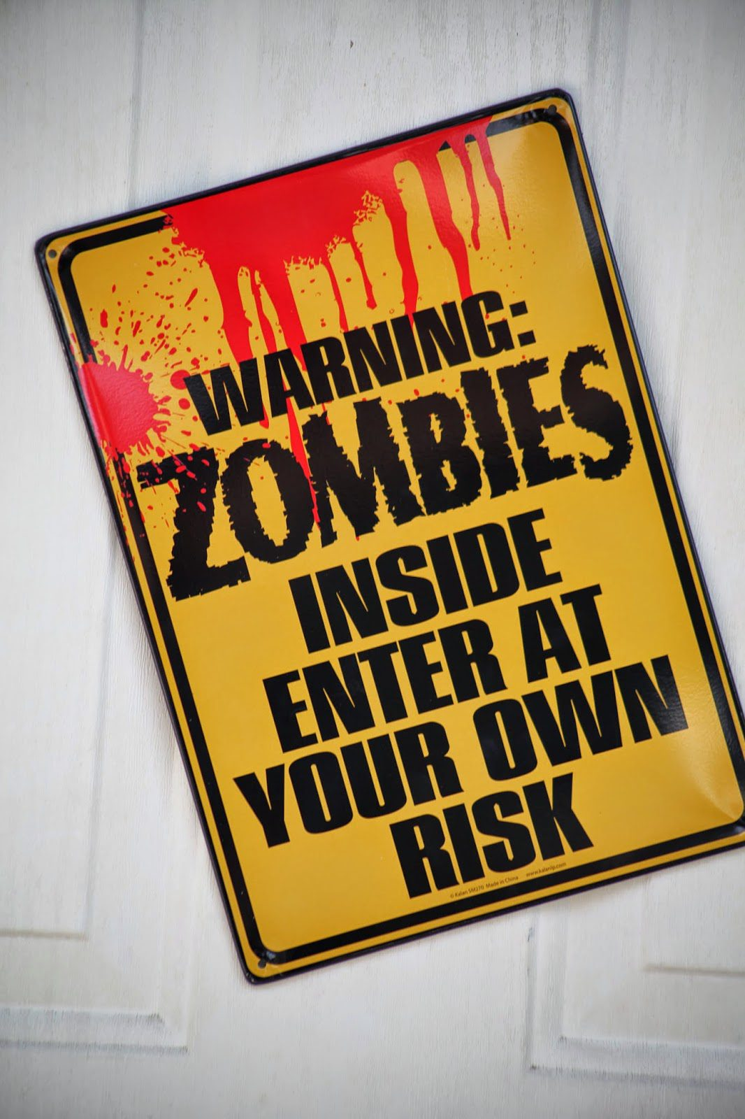 Zombie Warning - Plants vs. Zombies Party