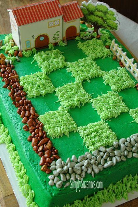 Plants vs. Zombies Party Cake