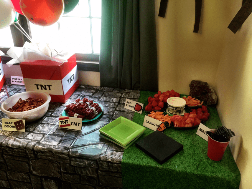 Minecraft TNT Party Decoration