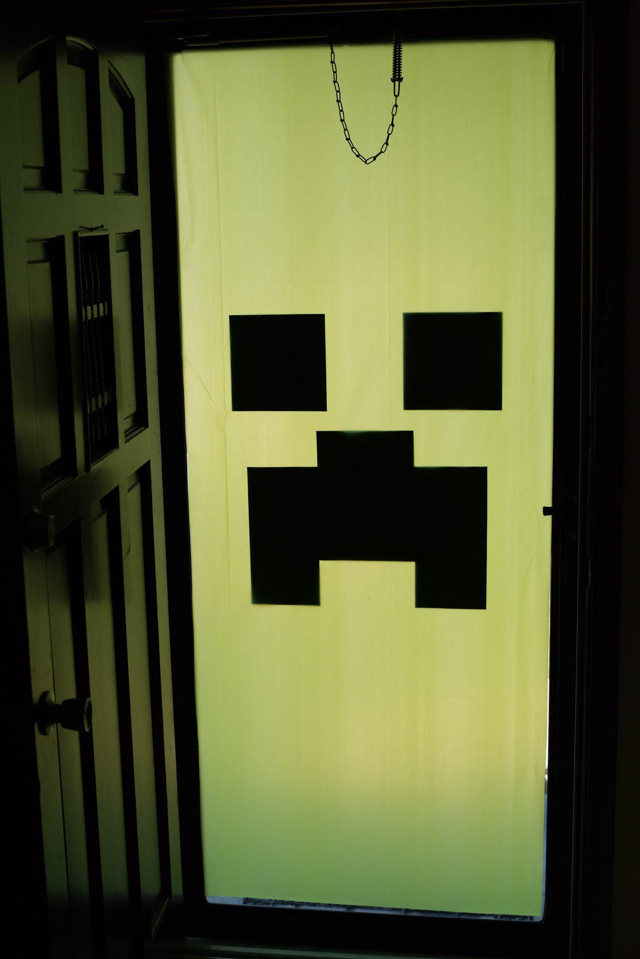 Minecraft Creeper Door Decoration
